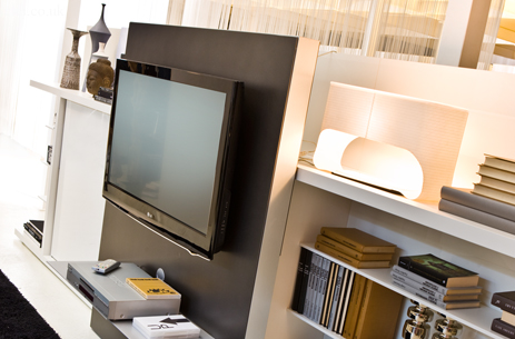 Not Only Is This A Very Cool Looking Modern Clean And Compact Storage Unit For Your Tv But Slide The Tv Component Aside And Reveal A Fold Down Single