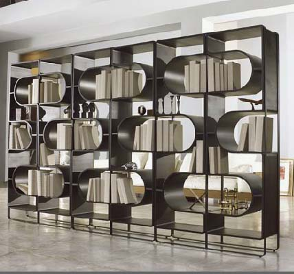linfa design bookshelf/room divider | 650sqft